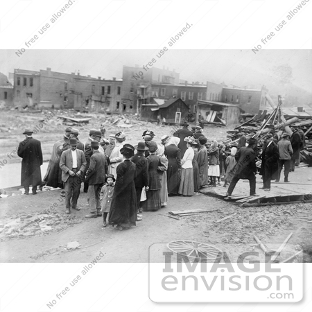 #8507 Picture of People Standing by Creek, Austin Dam Disaster by JVPD