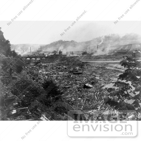 #8515 Picture of the Johnstown Flood Aftermath by JVPD