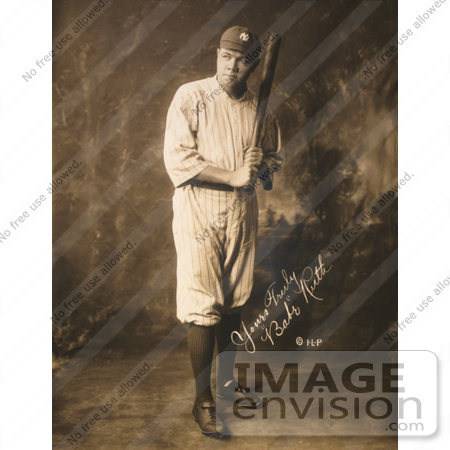 #8791 Picture of The Great Bambino, The Sultan of Swat, The Colossus of Clout by JVPD