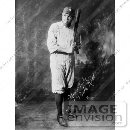 #8796 Picture of The Great Bambino With a Bat by JVPD