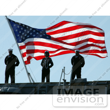 #8870 Picture of Sailors With American Flag by JVPD