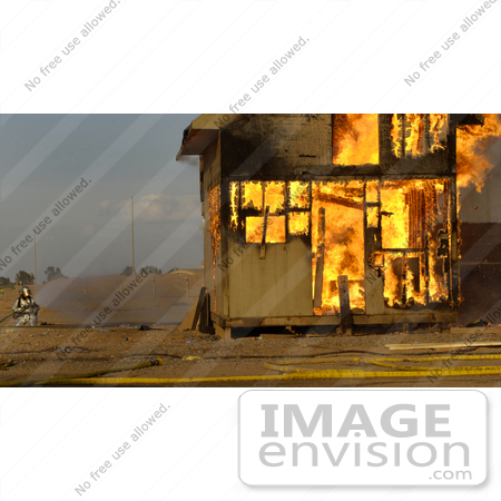 #8874 Picture of a Burning Building by JVPD