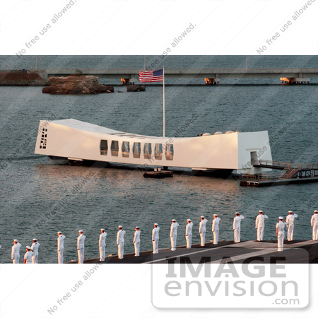 #8881 Picture of Sailors Passing the USS Arizona Memorial by JVPD