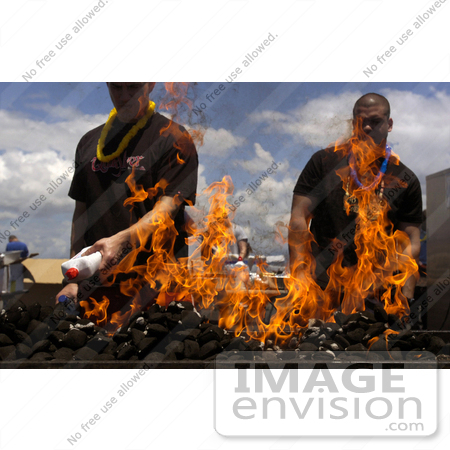#8887 Picture of Sailors Using Lighter Fluid by JVPD