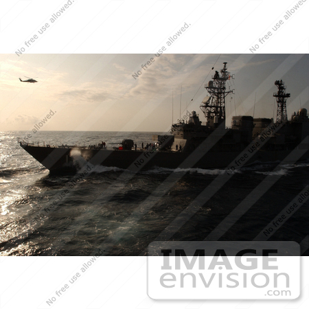 #8903 Picture of an Aircraft Carrier and Helicopter by JVPD