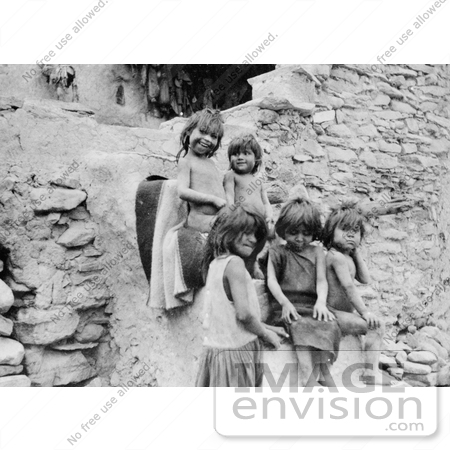 #9088 Picture of Hopi Indian Children by JVPD