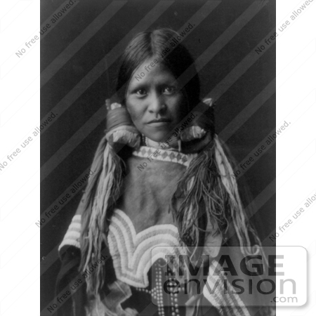 #9101 Picture of a Female Jicarilla Child by JVPD