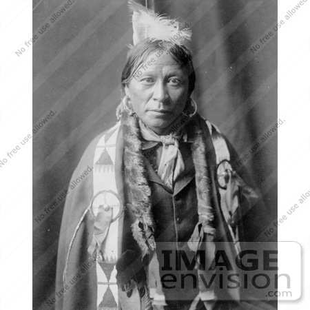 #9110 Picture of a Native American Jicarilla Man by JVPD