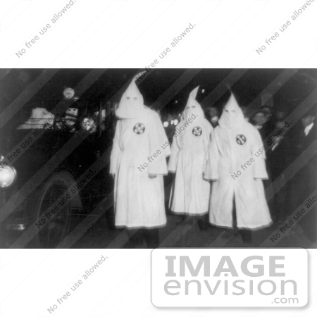 #9122 Picture of Three KKK Members in a Parade by JVPD