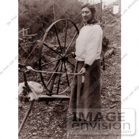 #9386 Picture of a Woman and a Spinning Wheel by JVPD