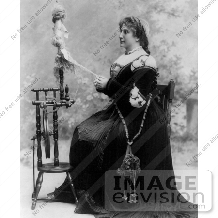 #9392 Picture of Dame Nellie Melba at Spinning Wheel by JVPD