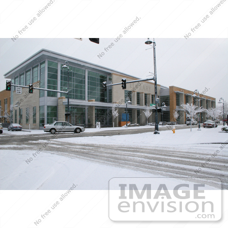#951 Picture of the Snow at the Jackson County Library in Medford, Oregon by Kenny Adams