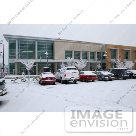 #959 Photography of Snow Covered Parking Lot Infront of the Jackson County Library by Kenny Adams