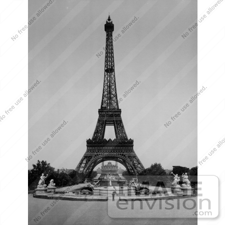 Picture  Eiffel Tower on Picture Of The Eiffel Tower And Trocadero    9662 By Jvpd   Historical