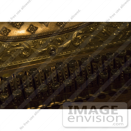 #967 Stock Image of a Golden Antique Cash Register by Jamie Voetsch