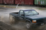 Free Picture of Young Man Off-roading in a Pickup Truck
