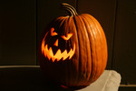 Free Picture of Scary Carved Pumpkin