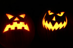 Free Picture of Scary Halloween pumpkins