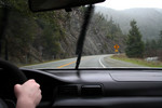 Free Picture of Driving on a Windy Road in the Rain