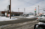 Free Picture of Snow on Main Street Beside 7-Eleven in Medford, Oregon