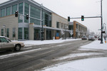 Free Picture of Snowy Roads Beside the Medford, Oregon Library