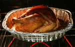 Free Picture of Thanksgiving Turkey Roasting in a Oven