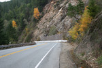 Free Picture of Landslip Area Beside an Oregon Highway