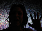 Free Picture of Ghostly Woman Stuck in a TV