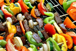 Free Picture of Shish Kebobs on a BBQ
