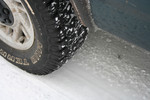 Free Picture of Tire on a Snowy Road