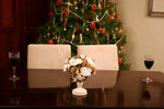 Free Picture of Table Setting at Christmas Time
