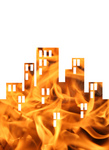 Free Picture of Flaming City