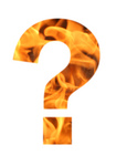 Free Picture of Flaming Question Mark