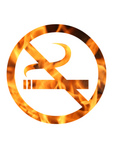 Free Picture of Flaming No Smoking Sign