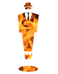 Free Picture of Flaming Business Man