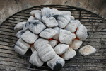Free Picture of Ash Coated Charcoal on a Grill