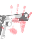 Free Picture of Handprint and Gun