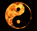 Free Picture of Flaming Yin Yang