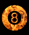 Free Picture of Fiery 8 Ball