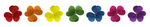 Free Picture of Rainbow Colored Clovers