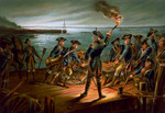Free Picture of U.S. Army. Artillery Retreat From Long Island, 1776