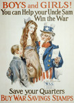 Free Picture of Uncle Sam With Boy and Girl