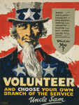 Free Picture of Volunteer, and Choose Your Own Branch of the Service