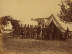 Free Picture of President Lincoln on Battle-Field of Antietam