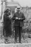 Free Picture of Miss Janet Moffett and President Coolidge, Red Cross drive