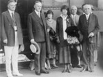 Free Picture of President and Mrs. Coolidge, Herbert Hoover, Frank B. Kellogg