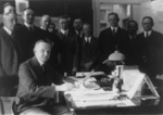 Free Picture of President Calvin Coolidge Signing the Cameron Bill
