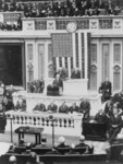 Free Picture of President Coolidge Delivering his First Message to Congress