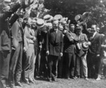 Free Picture of Newspapermen Cheering President Coolidge