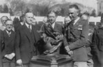 Free Picture of President Coolidge Presenting the Collier Trophy